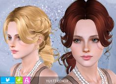 Hairstyle Lenox by NewSea - Sims 3 Hairs Download Hair, Free Sims, Sims Hair, Sims 3, Disney Characters, Fictional Characters, Disney Princess, Female Hairstyles, Hair Pack