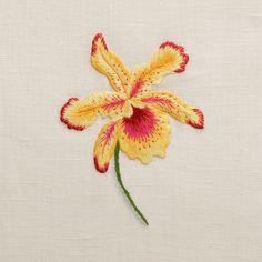Orchid Onze<br>Hand Towel - Ivory Linen