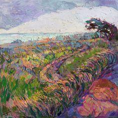 Fog Bank, original oil painting landscape by modern impressionist Erin Hanson