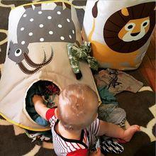 Caliente venta canadá marca lavadero plegable dirty clothes canasta de almacenamiento para juguete protección del medio ambiente material para los niños(China (Mainland))