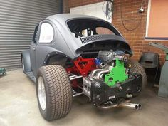 Supercharged Subaru powered VW drag racing beetle