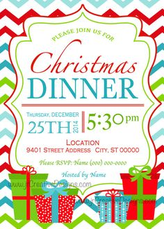 8 best christmas dinner invitations supper brunch lunch breakfast