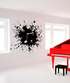 Girl Blowing Music Notes Vinyl Wall Decal Sticker Art Decor - Wall decals art