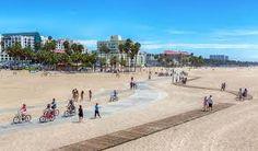 Check out Santa Monica Neighborhood Guide Best California Beaches, Visit California, Southern California, Spas, Santa Monica, Places To Rent, New York City Travel, Bike Path, The Neighbourhood