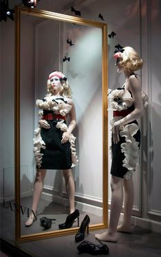 Mirror, mirror on the wall…Alber Elbaz explores bizarre reflections on mirrored surroundings, revealing unusual characters sporting a wardrobe inspired by the Winter 2012 advertising campaign.