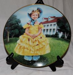 """Vintage Danbury Mint - SHIRLEY TEMPLE Collector Plate - """"The Little Colonel"""""""