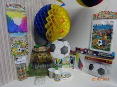 Kit decoración de fútbol Selección Colombia. Disfruta del mundial en tu cumpleaños. #DecoracionesFiestasMedellin #ArticulosParaFiestasBogota