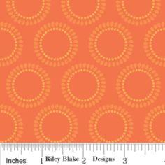 Circles in Orange; fabric design #design