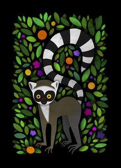 Lemur Art Print by Steven Leyden Cochrane   Society6