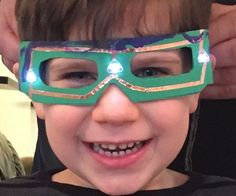 chibitronics paper circuit how to superhero mask DIY EZ LED Glasses