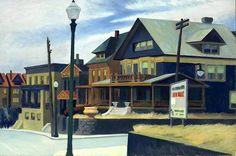 Edward Hopper  'East Wind Over Weehawken'