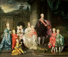 Leopold I, Grand Duke of Tuscany with his wife Maria Luisa and their children