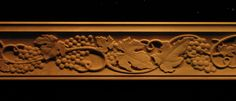 Our selection of decorative crown and rail mouldings can transform the look of any room. Browse our collection of beautifully carved wood crown mouldings. Wood Crown Molding, Moldings, Italian Restaurant Decor, Wine Barrel Furniture, Wood Columns, Acorn And Oak, Decorative Mouldings, Wood Plaques, Grape Vines