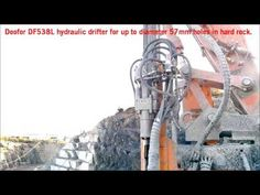 Doofor DF538L drifter drilling 51mm drill holes (no sound). There is more information on this rock drill on the Doofor website at www.doofor.com