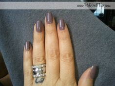 Polished Tips: Shellac: Negligee over Rubble on natural nails