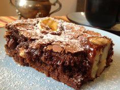 BROWNIE DE CHOCOLATE E BANANA - RECEITAS MARIA JOSÉ | Tortas e bolos > Brownie | Receitas Gshow