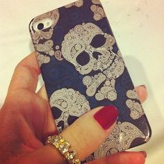 Paisley and skull print iPhone 4 case