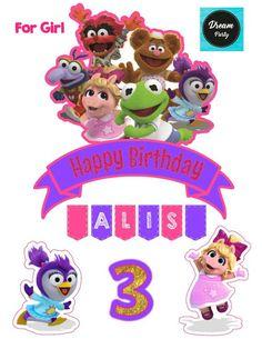 Muppet Babies Cake Topper Muppet Babies Birthday Muppet | Etsy Muppet Babies, Baby Cake Topper, Cake Toppers, Baby Girl Birthday, 2nd Birthday, Dream Party, Fancy Nancy, Disney Junior, Baby Party