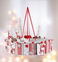 Advent calendar Rondell - All Craft Ideas After Christmas, Christmas Crafts, Christmas Decorations, Xmas, Holiday Decor, Make An Advent Calendar, Diy Calendar, Calendrier Diy, Foam Stamps