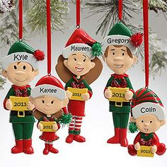 Personalized Christmas Ornaments - Family Characters
