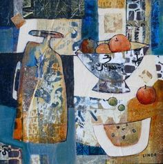 Wonky pots (Fruit Bowl), think the artist is Linda Bell