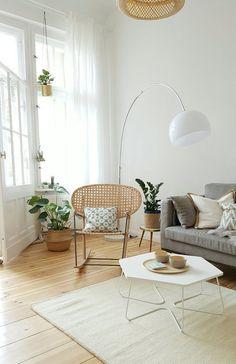 Mit Hellen, Natürlichen Farben Einrichten Vorhänge Wohnzimmer, Wohn
