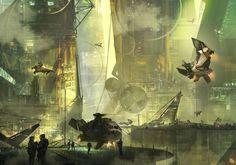 concept ships: Concept spaceship art by Florent Llamas