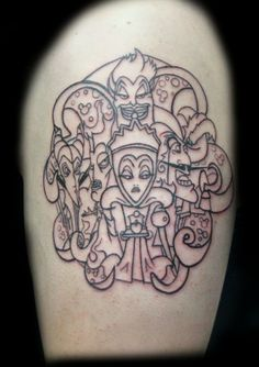 Disney villains tattoo pretty sure I was just talking about this