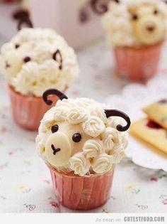 Sheep Cupcakes by trina