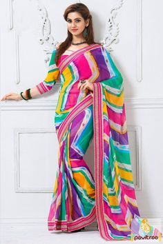 Everyone will admire your look when you drape this multicolor silk saree online shopping with discount offer. This colorful saree comes in beautiful blouse piece to complete your look. #partywearsaree, #partysaree, #designerpartysaree, #embroiderysaree, #designersaree, #georgettepartysaree, #discountoffer,   #pavitraafashion, #utsavfashion, #onlinesareeshopping, #printedpartysaree, #silkpartysaree, #indiansaree http://www.pavitraa.in/store/embroidery-saree/ callus:+91-7698234040