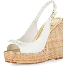 a61046526ed9 kate spade new york Women s Della Leather Wedge Sandal (2 520 ZAR) ❤ liked