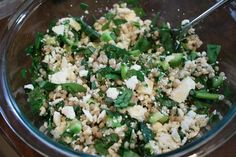 Spinach Basil Couscous