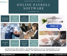 An online HR and Payroll software offers a lot of advantages to the user (HR and/or payroll admin), the employees and the organization. -Generating Accounts JV -Multiple reports generation -Built-in attendance and leave data as automated inputs -SalesBabu Online Payroll Software for Small Business -Affordable cost -Easy to use -Relief from regulatory aspects -Easy and swift payroll reconciliation Customer Complaints, Small Business Solutions, Tracking App, Customer Relationship Management, Attendance, Start Up Business, Swift, Accounting, Software