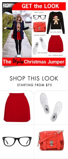 """""""Get The Look:THE XMAS JUMPER"""" by rosalie45 ❤ liked on Polyvore featuring Delpozo, Vans, Muse and Proenza Schouler"""