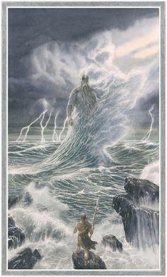 Alan Lee illustrations from The Fall of Gondolin Jrr Tolkien, Tolkien Books, Alan Lee, Middle Earth Books, Das Silmarillion, O Hobbit, High Fantasy, Fantasy Illustration, Fantasy Landscape