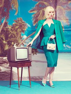 Kourtney Roy - The Eye of Photography Magazine Portrait Photography, Fashion Photography, Photography Magazine, Vintage Television, Beauty Shoot, Blue Fashion, High Fashion, Perfect Woman, Photoshoot Inspiration