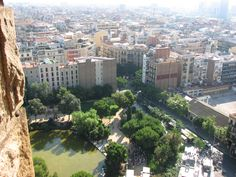 View from Segrada Familia tower
