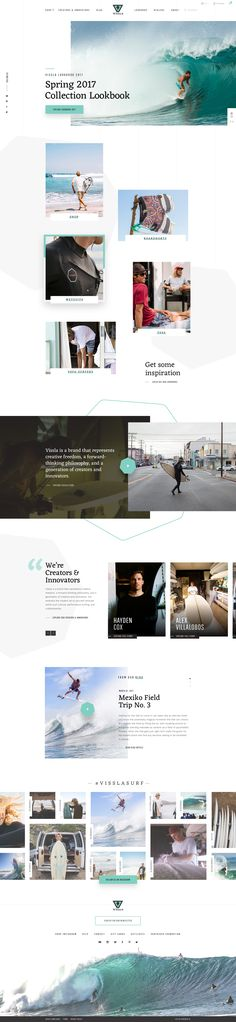 VISSLA Redesign Concept – Homepage by Simon Kratz | dribbble