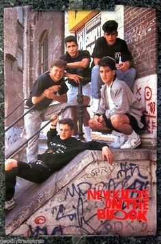 A classic poster Boston boy band the New Kids on the Block hangin' tough in their heyday! Check out the rest of our awesome selection of NKOTB posters! Need Poster Mounts. 90s Childhood, My Childhood Memories, Childhood Images, School Memories, Sweet Memories, Disney Cartoons, 80 Cartoons, Serie Twin Peaks, The Block