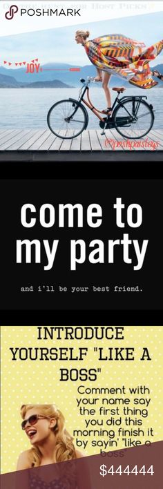 👉🌈✨June 29✨Time to PaRtY🦄✨🍭#likeaboss🤛👈 It's a PaRty in the afternoon✨I💗a good Posh Party and meeting new Poshers✨Always curating unique -must have-items with amazing cover shots 🎈 Introduce yourself and enjoy the ride🍰Hosting with my bestie @sarrah💁🏻 Other