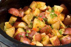 Potato Sides, Potato Side Dishes, Crockpot Side Dishes, Side Dish Recipes, Vegetarian Crockpot Recipes, Healthy Dinner Recipes, Crockpot Meals, Brunch Recipes, Crockpot Breakfast Casserole
