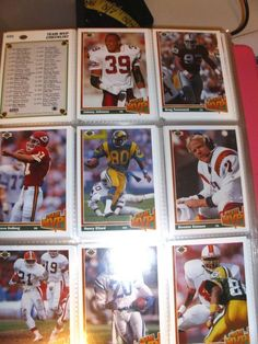 "NFL Football Cards ""MVP"" of 1991 Series by Upper Deck ""Team MVP""  &  Checklist"
