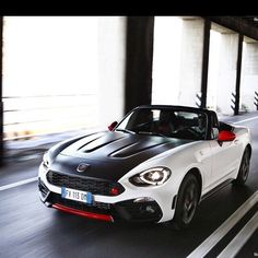 Fiat 124 Spider Abarth  Under the bonnet is a powerful ultra-reliable 1.4 litre four-cylinder turbocharged engine with MultiAir technology. It delivers 170 HP (that is about 124 HP per litre) and 250 Nm of torque: it has a top speed of 232 km/h and goes from 0 to 100 km/h in 6.8 seconds. What is more the engine sound is a fundamental element of all Abarth cars and standard equipment includes the Record Monza exhaust with dual mode system capable of modifying the path of the exhaust gas…