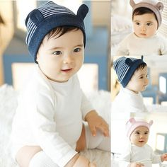 Soft Cotton Baby Ear Stripe Beanie Toddler Infant Newborn Kids Cap Boys Girls Hat Accessories #>=#>=#>=#>=#> Click on the pin to check out discount price, color, size, shipping, etc. Save and like it!