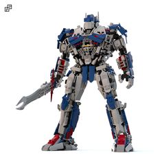 """Hey guys, I'm back with this Optimus Prime based on the version of the last movie """"Age of Extinction"""".  This model has 1096 pieces and a good range of movements, but it does NOT transform into a truck.  If you like it, smash the star button! :D"""