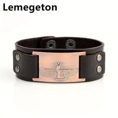 Find More Charm Bracelets Information about Lemegeton Queen of Egypt Holy Guardian Angel Cuff Bracelets Leather Bangles Amulet Charm Bracelets For Punk Black Brown Jewelry,High Quality bracelets for,China charm bracelet Suppliers, Cheap charm bracelets for women from lemegeton Official Store on Aliexpress.com