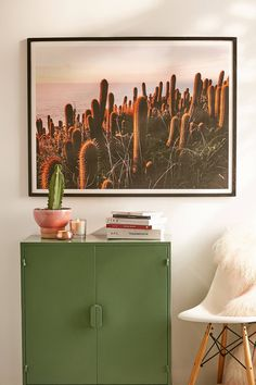 Victoria Aguirre Cactus Sunset Art Print | Urban Outfitters