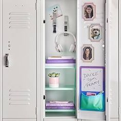 Shop locker shelf from Pottery Barn Teen. Our teen furniture, decor and accessories collections feature fun and stylish locker shelf. Create a unique and cool teen or dorm room. Girls Locker Ideas, Cute Locker Ideas, Middle School Lockers, Middle School Supplies, Cute Locker Decorations, School Locker Organization, Bathroom Organization, Locker Shelves, Locker Designs