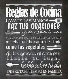 Reglas de cocina #decoraciondecocinasmanualidades