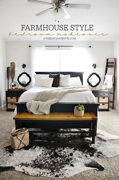 Home Decor - DIY Bedroom Makeover and Farmhouse Decor at the36thavenune.com